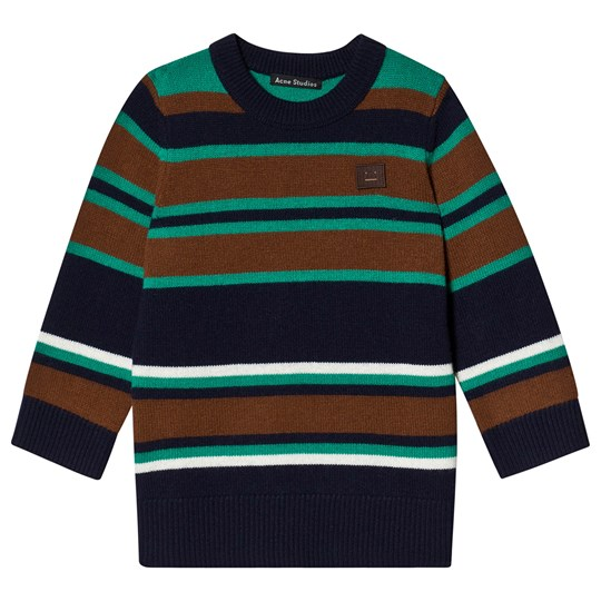 Acne Studios Mini Nimah Sweater Navy Stripe Navy Multicolor