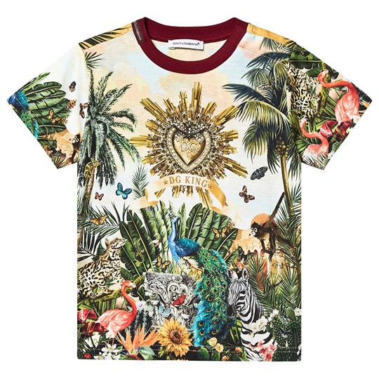 Dolce & Gabbana King Tropical Tee Multicolor HHIH3
