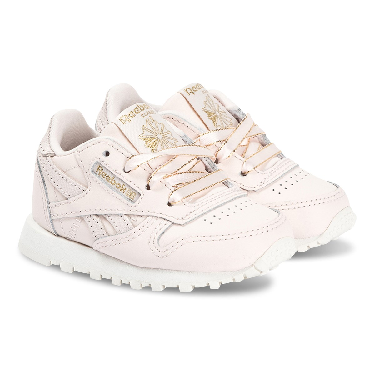 Reebok Classic Leather Pale Pink//White Leather Infant Trainers