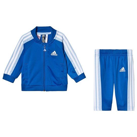 adidas Performance Blue 3 Stripes Logo Tracksuit Top:blue/glow blue/white Bottom:BLUE/GLOW BLUE F19