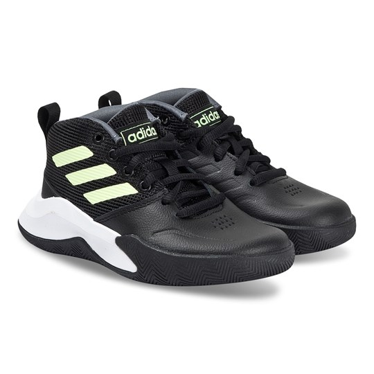 adidas Performance Own the Game Wide Sneakers Svart/Hi-Res Yellow core black/hi-res yellow/onix