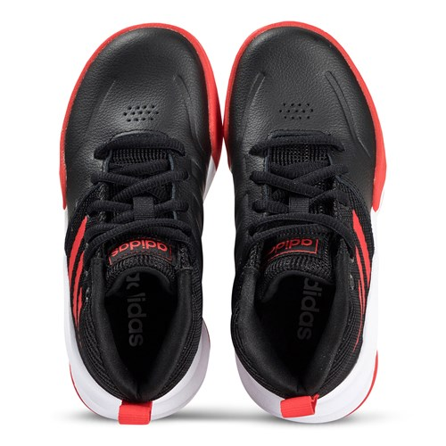 Game Wide Sneakers Black and Active Red