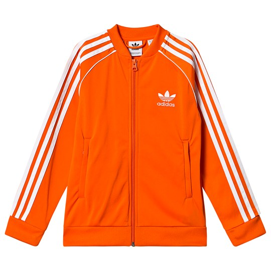 Orange Superstar Logo Track Jacket