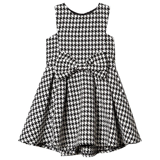 Bardot Junior Roma Boulce Dress Black and White HOUNDSTOOTH