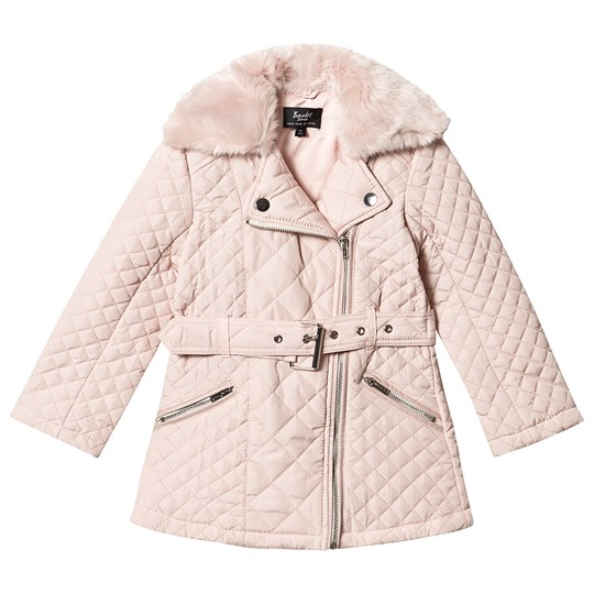 Bardot Junior Quilted Coat Blush Peach Blush