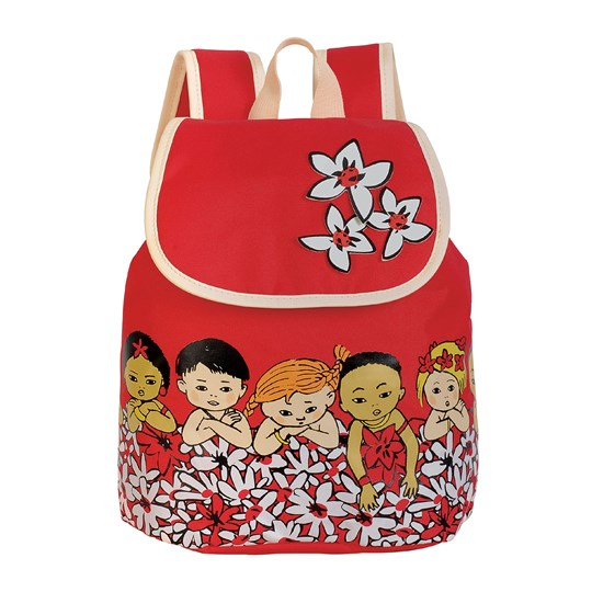 Pippi Långstrump Pippi Långstrump Tropic Flap Backpack Red Rød