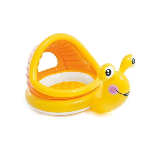 Intex Lazy Snail Shade Baby Pool 53 L 145x102x74 cm Yellow