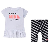 53e6052511b NIKE White Slogan Tunic & Black Capri Leggings Set 023