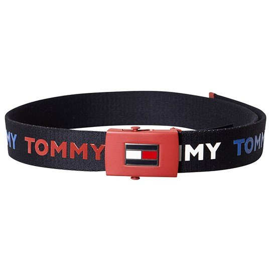 Tommy Hilfiger Flag Belt Navy and Red 902