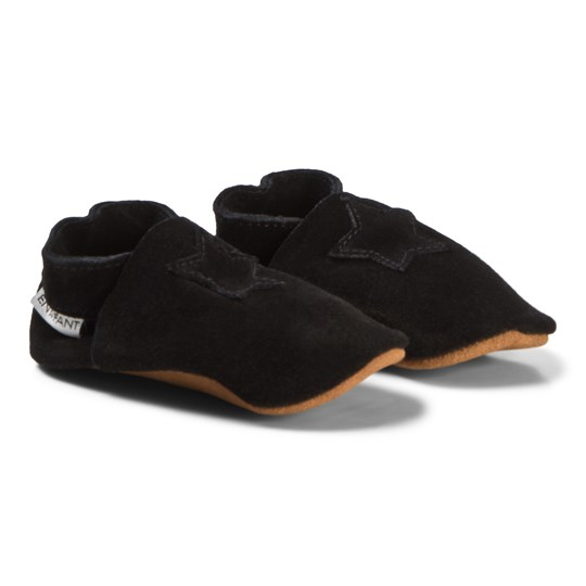 EnFant Elastic Slipper Suede Black Black