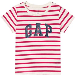GAP Striped Tee Pure Red