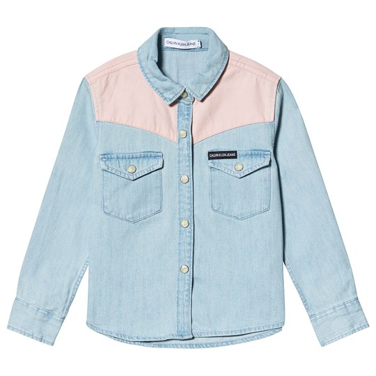 Calvin Klein Jeans Contrast Shirt Blue and Pink 911