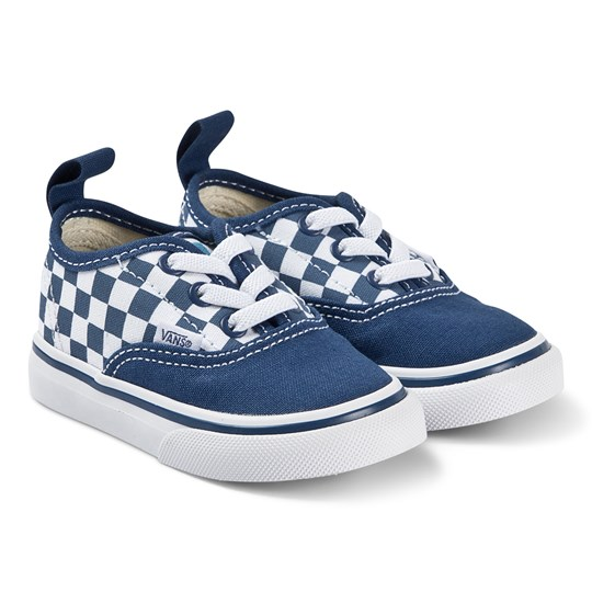 Vans Authentic Checkerboard Sneakers True Navy and Bonnie Blue (Checkerboard) true navy/bonnie blue