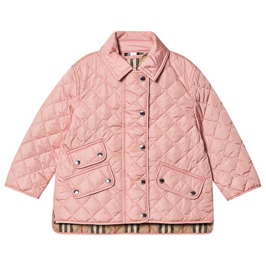 Burberry Diamond Quilted Jacket Dusty Pink A1419
