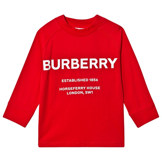 Burberry Horseferry Long Sleeve Tee Bright Red A1460