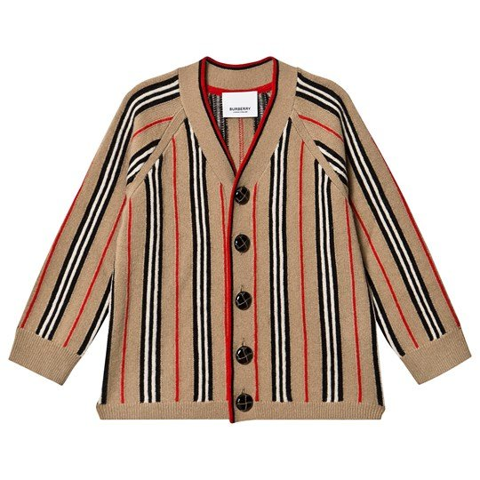 Burberry Icon Stripe Cardigan Archive Beige A7026