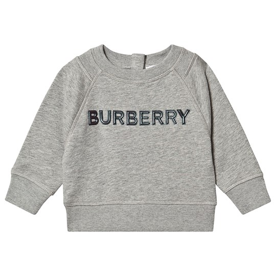 Burberry Branded Sweatshirt Grey Melange A1216