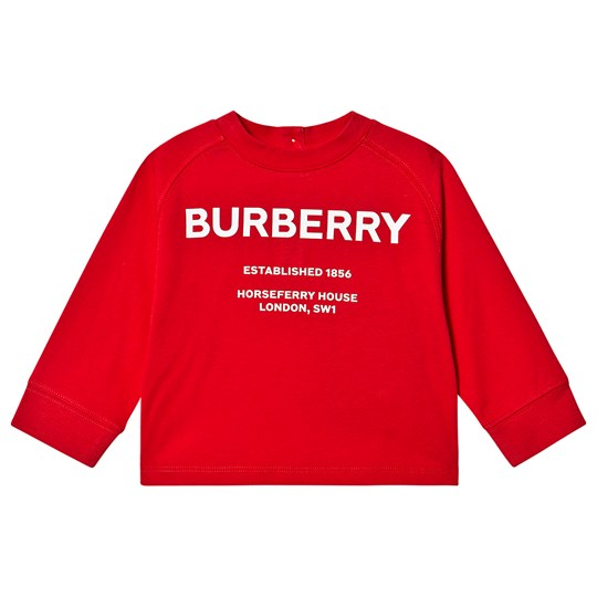 Burberry Horseferry Långärmad Baby T-shirt Bright Red A1460