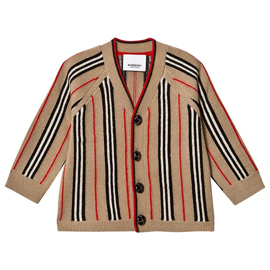Burberry Icon Stripe Baby Cardigan Archive Beige A7026