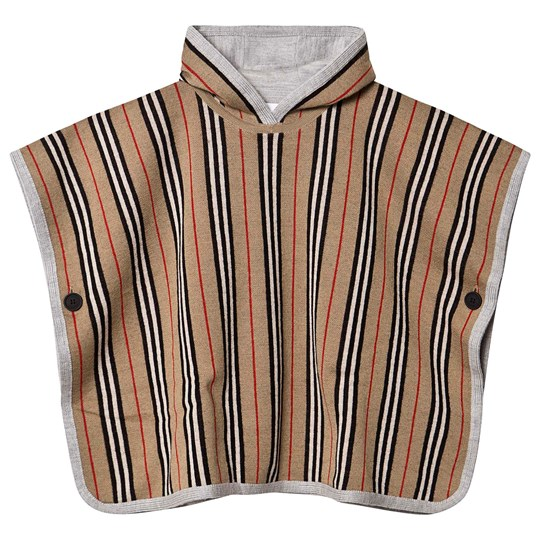 Burberry Reversible Icon Stripe Poncho Archive Beige A7026
