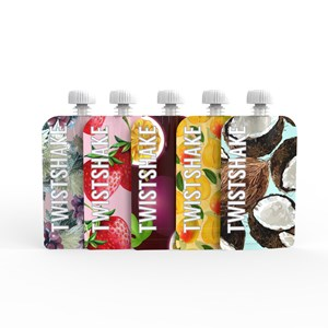 Twistshake 5-Pack Squeeze Poser 100 ml Frugt One Size