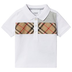 Burberry Vintage Check Baby Polo Hvit