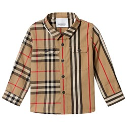 Burberry Baby Panelled Shirt Archive Beige