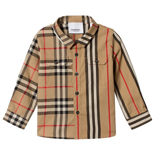 Burberry Baby Panelled Skjorte Archive Beige A7026