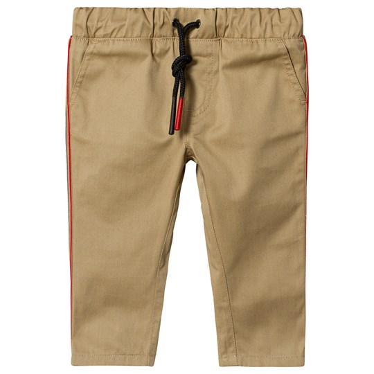 Burberry Icon Stripe Baby Chinos Beige A1366