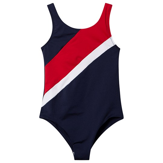 Tommy Hilfiger Stripe Swimsuit Navy 416
