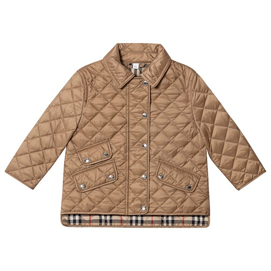 Burberry Diamond Quilted Jacket Beige A1366