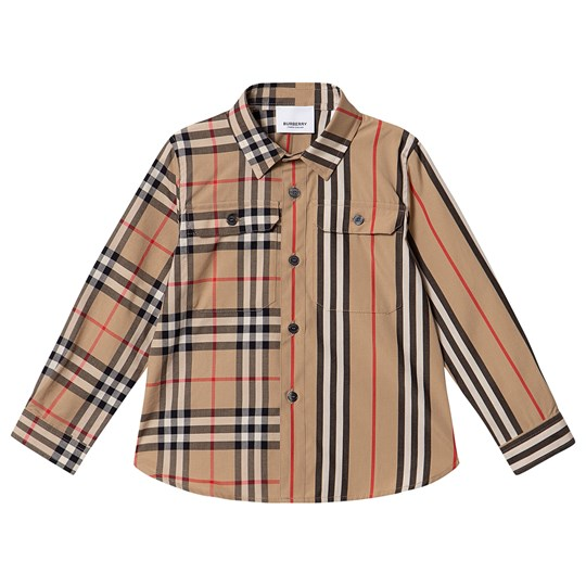 Burberry Panelled Shirt Archive Beige A7026