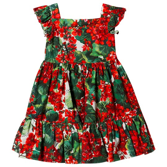 Dolce & Gabbana Portofino Flutter Dress Red HAV03