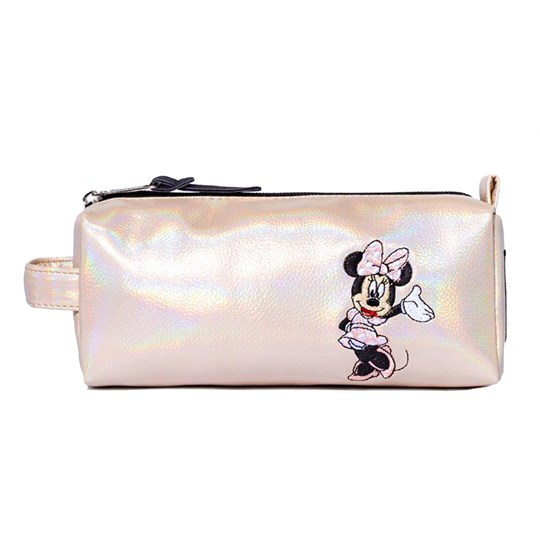 Hype Minnie Mouse Rose Gold Shimmer Pencil Case Rose Gold