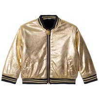9a195524 Little Marc Jacobs Reversible Bomber Jacket Navy and Gold 849