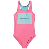 6b610a551b520 Calvin Klein Pink and Blue Branded Print Swimsuit 634