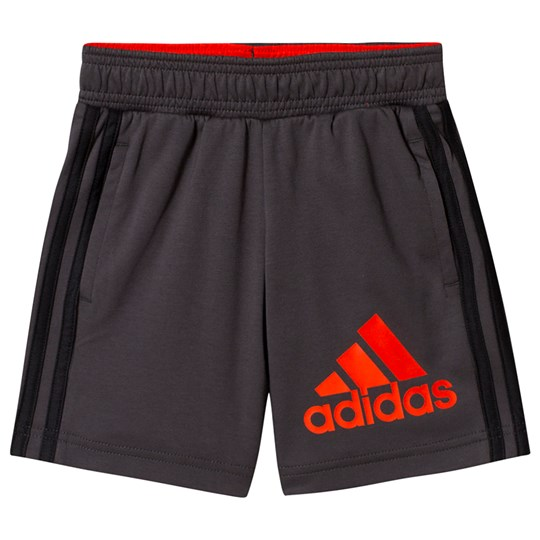 adidas Performance Logo Shorts Charcoal grey six/active orange