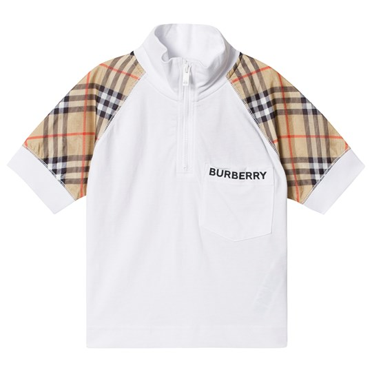 Burberry Zip Front Polo White A1464