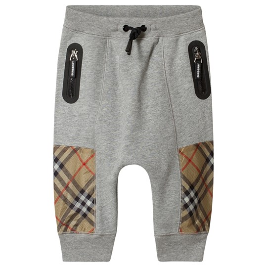 Burberry Check Baby Sweatpants Grey Melange A1216