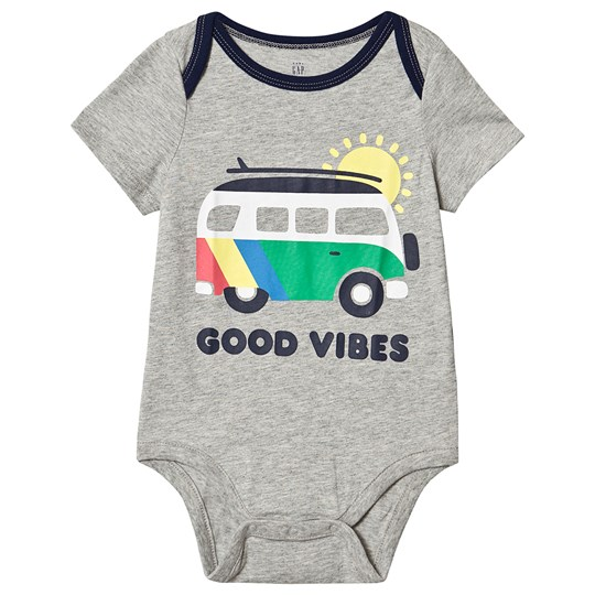 Gap Good Vibes Baby body Light Heather Grey Grey