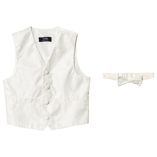 Jocko Noos Vest and Bow Tie Ivory White