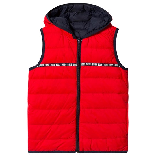 BOSS Reversible Gilet Navy and Red 97E