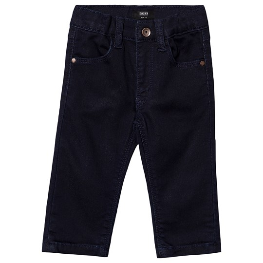 BOSS Pull Up Jeans Slim Fit Embossed Blue Z29