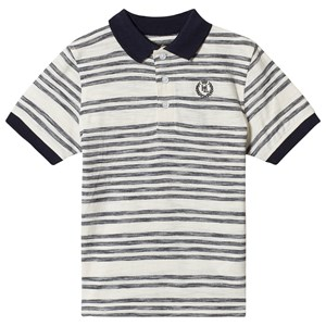 Image of Henri Lloyd Stripe Logo Polo White and Navy 7-8 years (1374231)