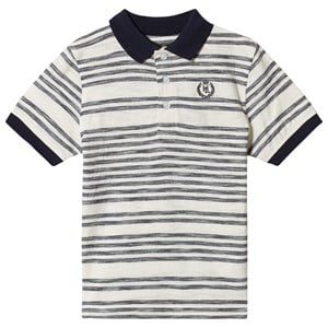 Image of Henri Lloyd Stripe Logo Polo White and Navy 14-15 years (1374235)