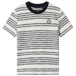 Image of Henri Lloyd Stripe Logo Tee White and Navy 14-15 years (1374199)