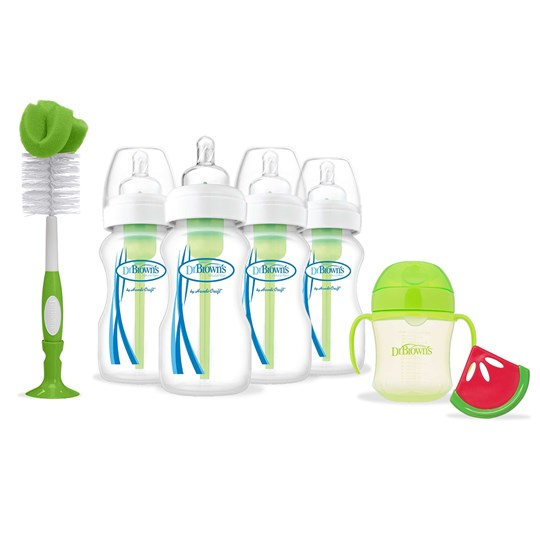 DrBrown's Options™ Wide-Neck 4 Present Set Grön Green