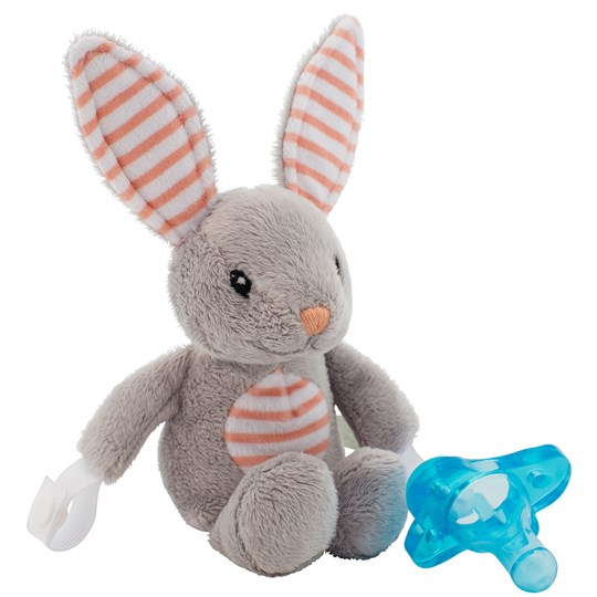 DrBrown's Lovey Pacifier and Teether Holder Billy the Bunny Beige