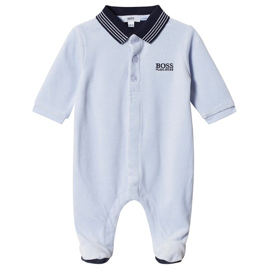 BOSS Logo Footed Baby Body Blue 771