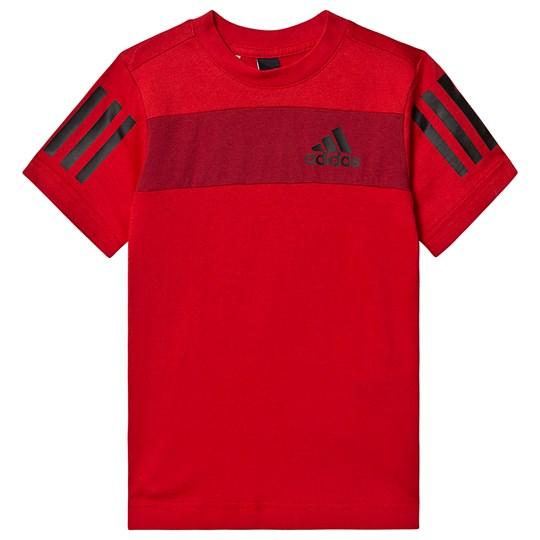 adidas Performance SID Logo T-Shirt Red scarlet/active maroon/black